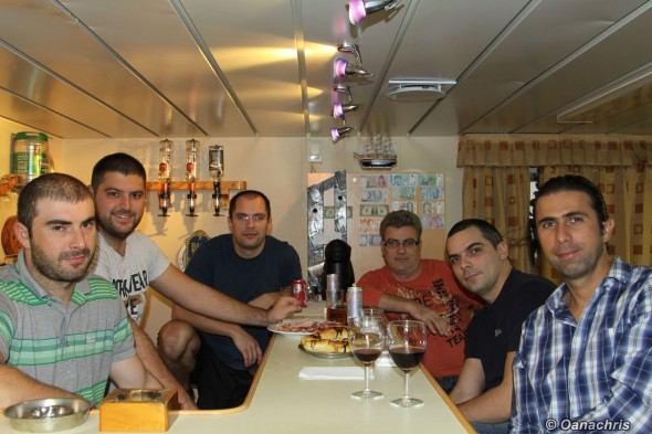 A little fun after working hours onboard HS Bach