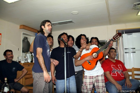 Party with karaoke and guitars on board HS Liszt