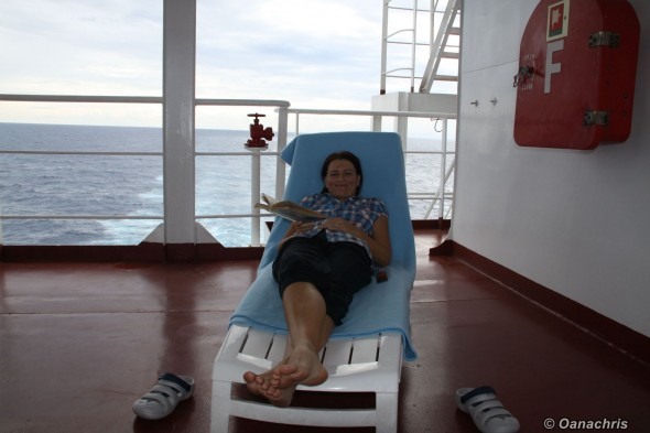 Relaxing on board HS Puccini