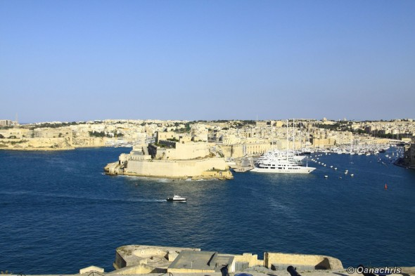 Valetta view from Upper Barakka Gardens