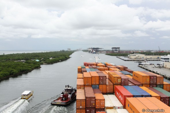 Approaching the berth in Port Everglades