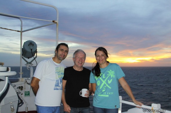In the Pacific Ocean with Alex, the passenger