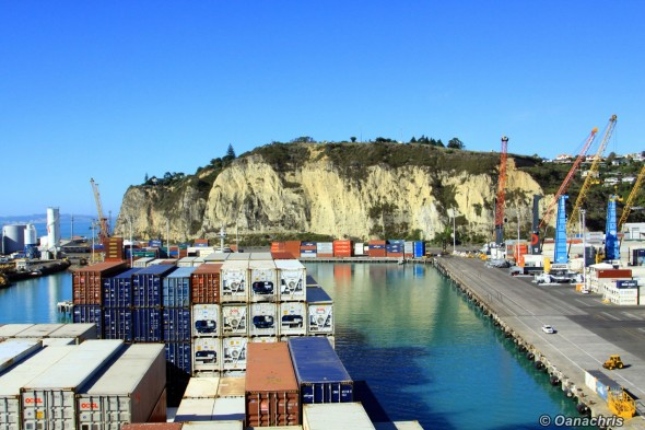 Approaching the berth in the port of Napier (1)