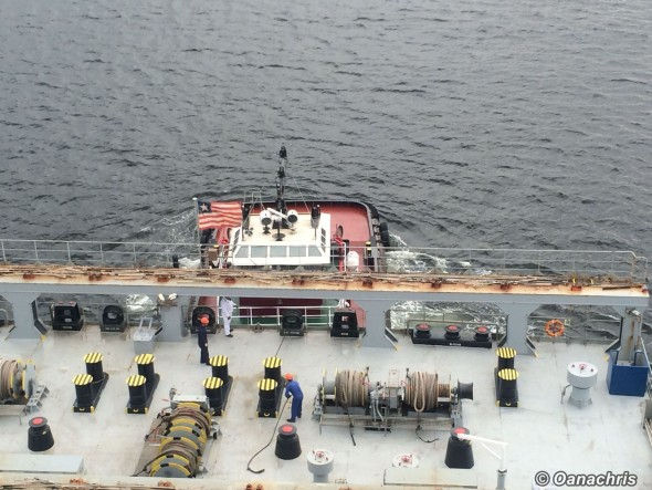 Tug fast in the aft