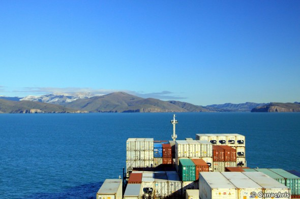 approaching Lyttelton Harbour