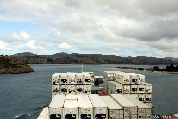 Approaching the entrance into Otago Harbour