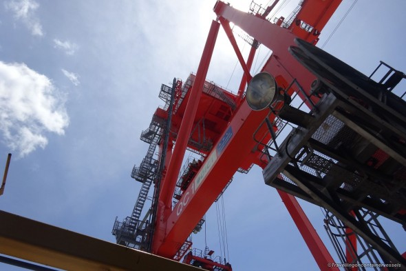 Up in the crane
