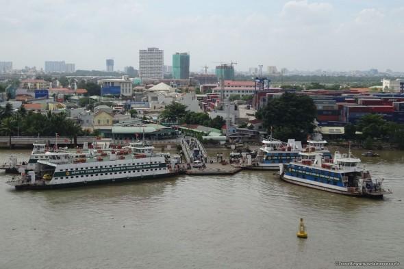 Entering Ho Chi Minh City