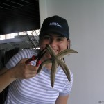 Catching a starfish ... by mistake