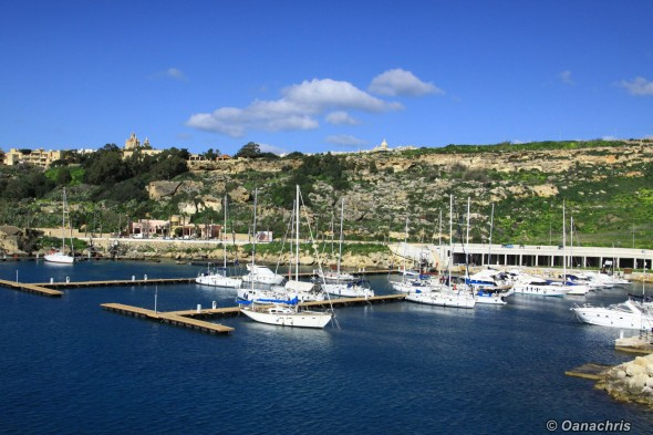 Approaching Gozo Island