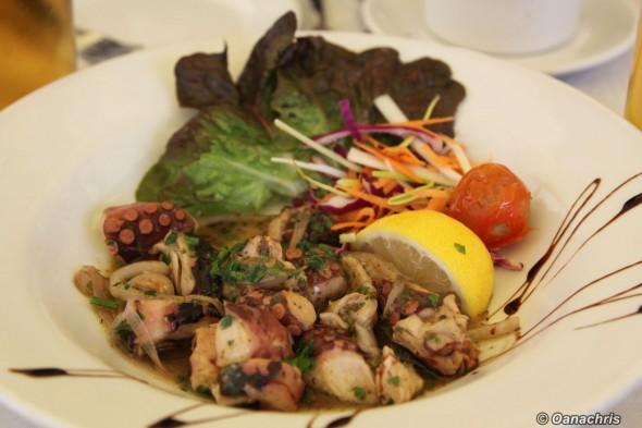 Boat House Restaurant Gozo- octopus