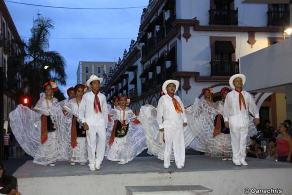 Fiesta on the street of Veracruz