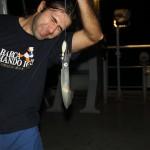 Fishing calamari in the Indian Ocean
