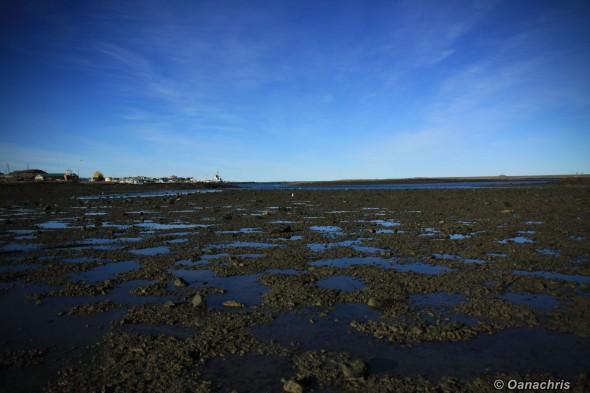 Shallow waters around Puerto Deseado