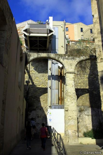 Cagliari elevator for Torre del Elefante