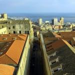 Cagliari - narrow streets view from Torre del Elefante