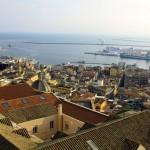 Cagliari - view towards the port - Torre del Elefante