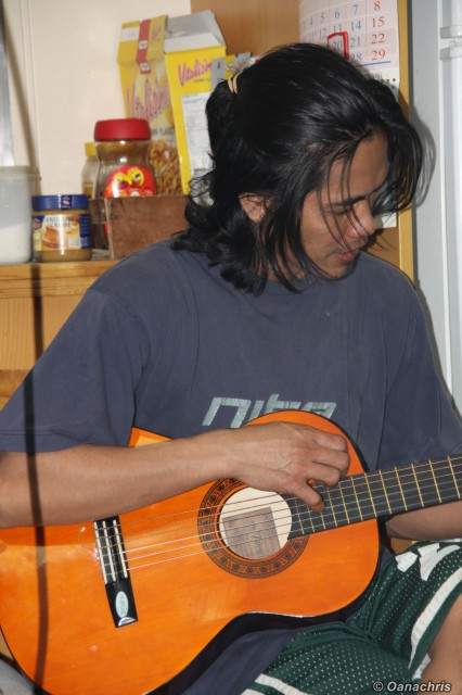 Guitar playing on HS Liszt