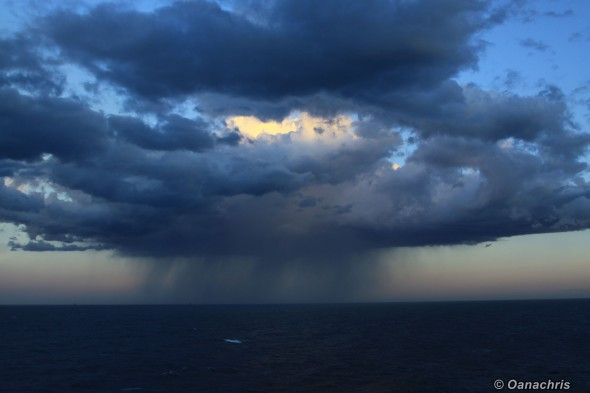Raining under way to Fos