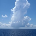 Rainy cloud in the Gulf of Mexico