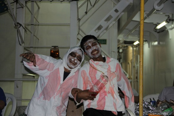 Halloween party on board HS Puccini (1)
