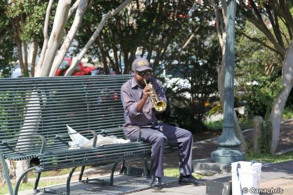 Street performer on Riverfront New Orleans