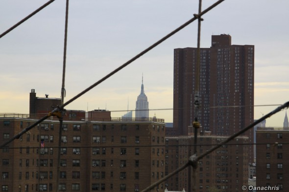 Empire State Building - view from Brooklyn Bridge