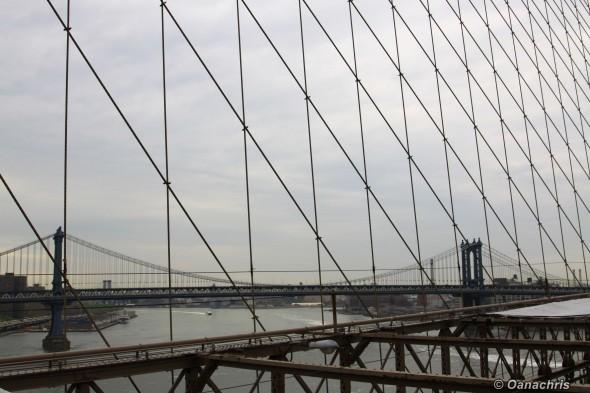Manhattan Bridge - view from Brooklyn Bridge