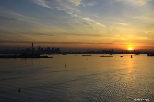 Sunset over Manhattan