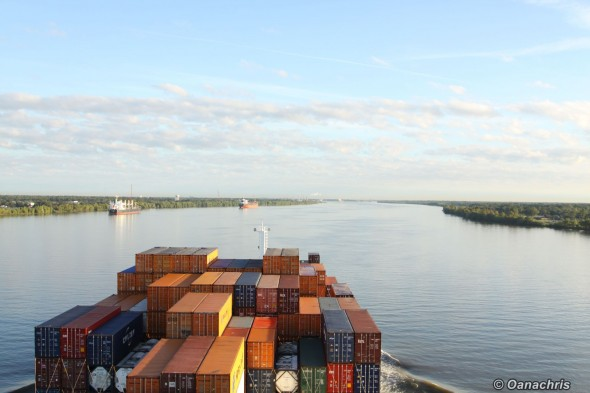 Under way to New Orleans - Mississippi River