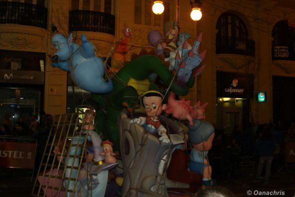 Valencia Feria de Falles -Burning the Falles infantiles (1)