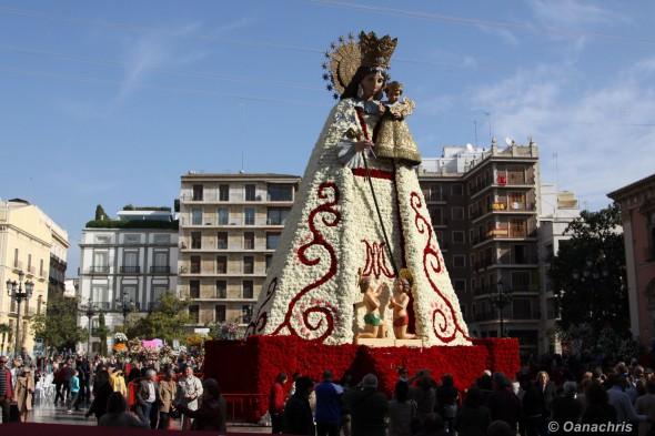 Valencia Placa de la Virgen - Feria de Falles