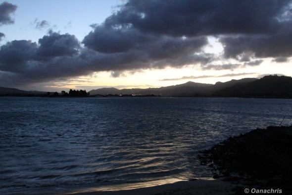 Sunset over the Otago Harbour
