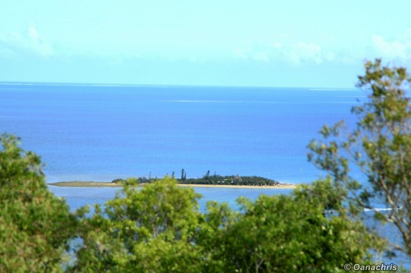 Noumea view over Duck Island from Quen Torro