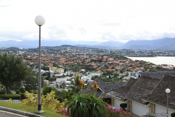 Noumea view over the city from Quen Torro