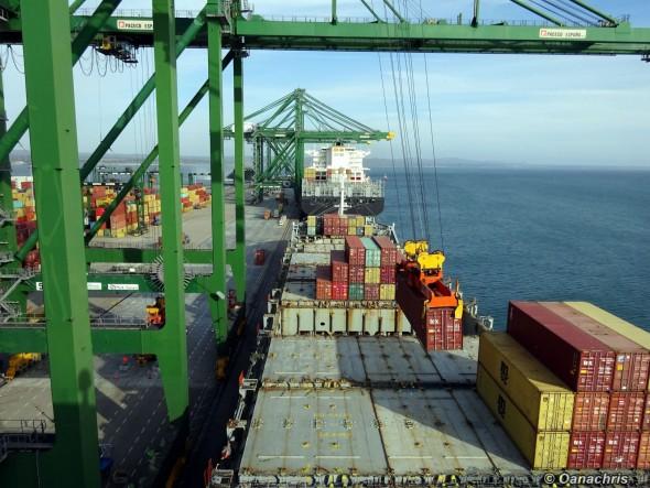 Vessel alongside in the Port of Sines