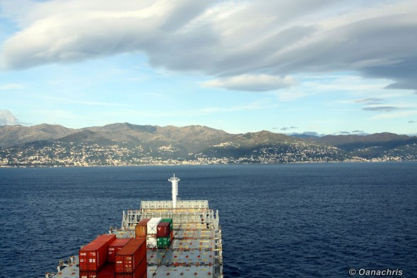 Approaching Genoa