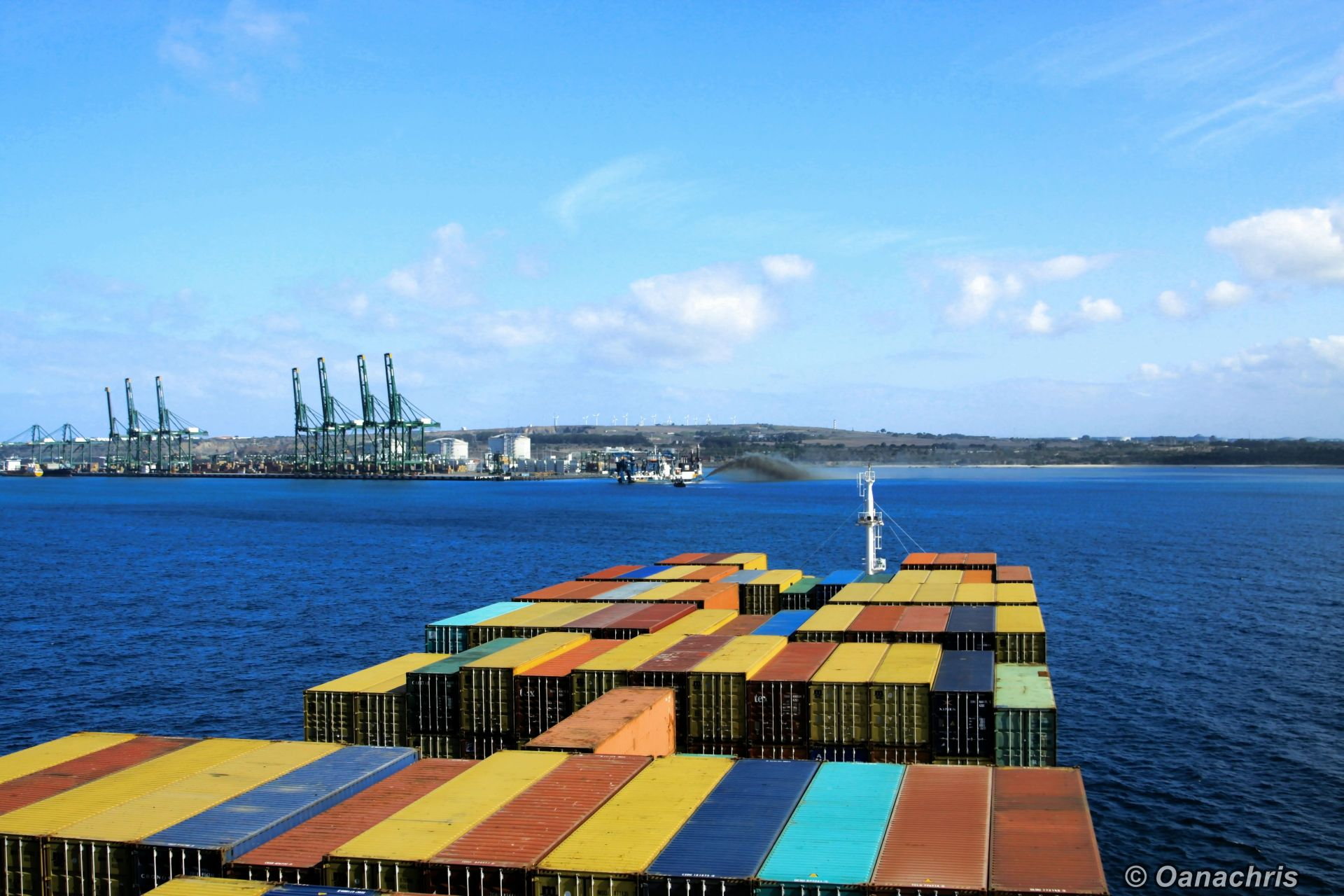 Entering The Port Of Sines Portugal Travelling On