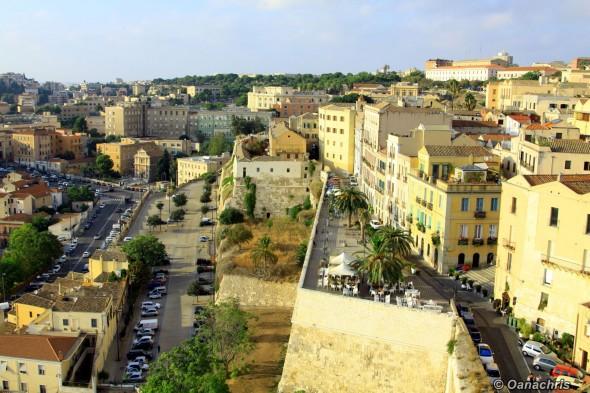 Cagliari view from Torre del Elefante