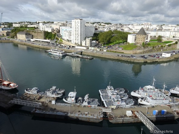 Brest Castle View towards the military port