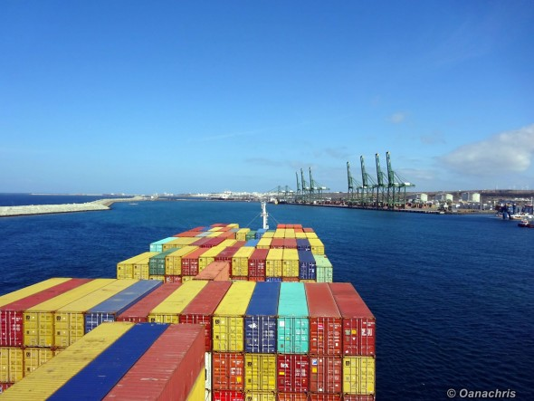 Entering the Port of Sines