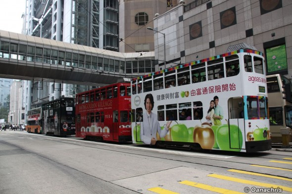 Hong Kong double decker tram (1)