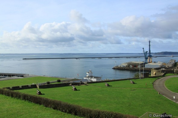 Brest Castle - view over the port basin