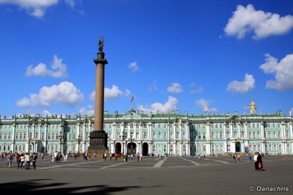 Saint Petersburg Palace Square Alexander Column