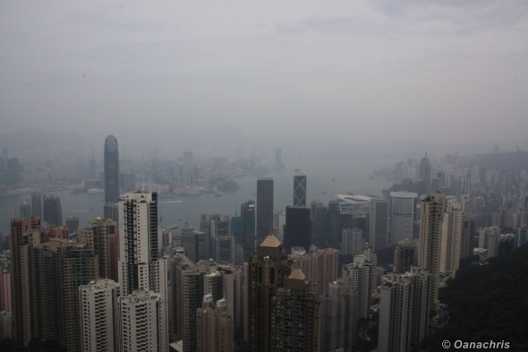 View from Victoria Peak towards Kowloon and HK Financial District