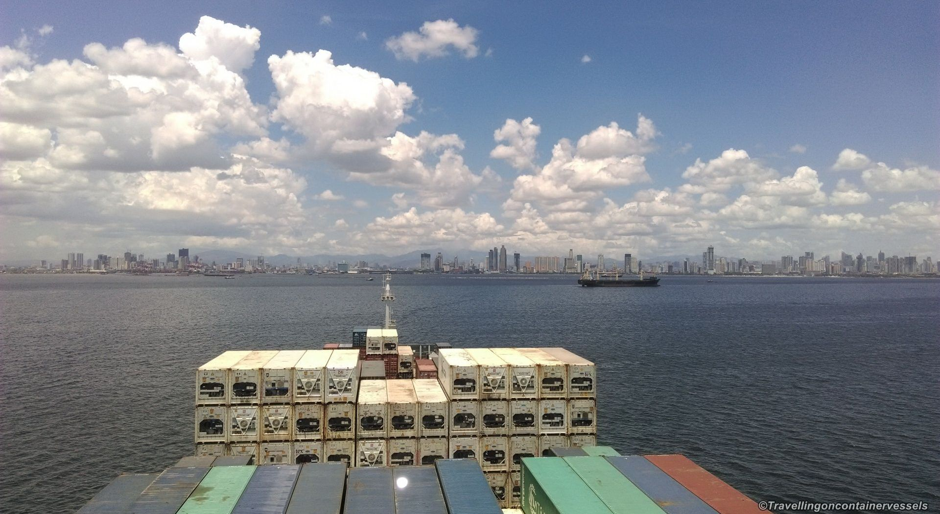 Entering the port of Manila