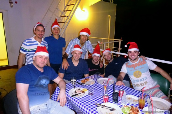Christmas on board